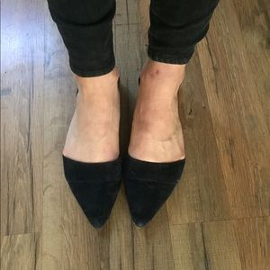 Madewell d'orsay flats navy leather suede 9 flats